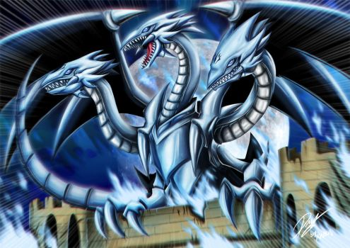 Blue Eyes Ultimate Dragon by Kraus-Illustration