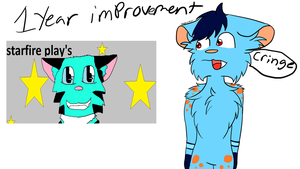 1 Year improvment by skyfeather0066