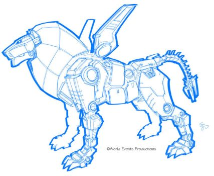 Voltron 2011 unused Black Lion by EJ-Su