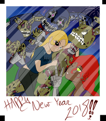 Happy New Year 2018 by YellowRoseofTexas