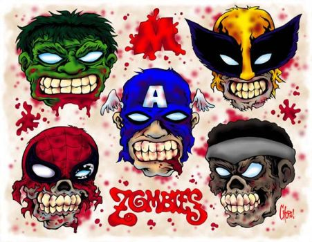 Marvel Zombies Flash by MonsterInk