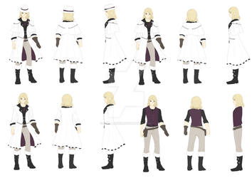 CM62 - Character Design 155 - Refrence Sheet by Stellatiria
