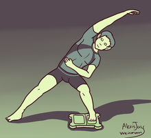 Male Wii Fit color palette exercise by bugs92