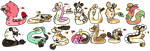 Ice cream themed fluffy noodles (3/14 open) by Sweetnfluffy-adopts