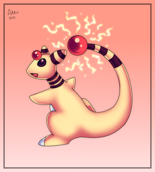 Ampharos Used Discharge by Meme772