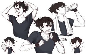 Keith doodles by nise-here