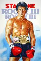 Sylvester Stallone  Rocky Poster Painting by SpirosSoutsos