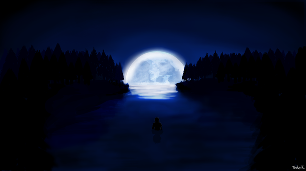 The Blue Moon by Tade1128