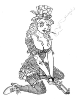Steampunk Girl by Smully
