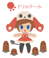 Drill Tail and Diglett for Drill_Tail ::GIFT:: by Itachi-Roxas