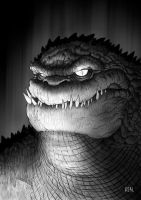 Killer Croc by JoseRealArt