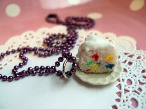 Birthday Cake Necklace by abarra01