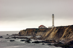 At the Edge of the World - Point Arena Lighthouse by gidatola