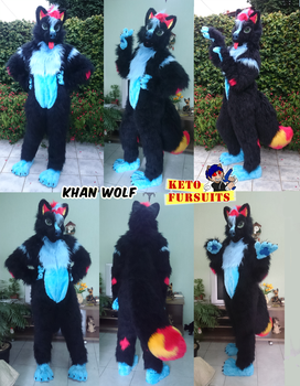 Commision - Khan wolf fullsuit by Keto-Pagano
