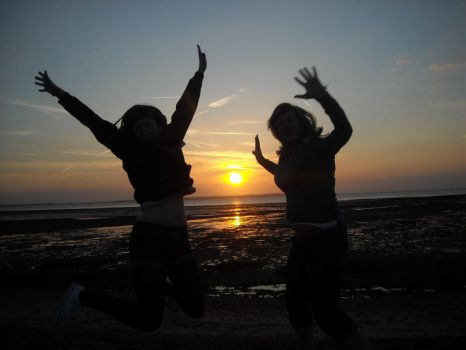 Silhouettes at Sunset by Lexxa24