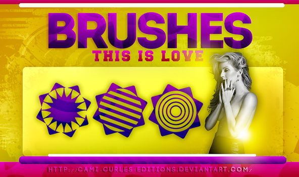 +BRUSHES: This is love| by CAMI-CURLES-EDITIONS