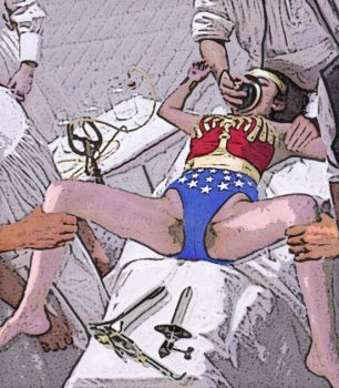 Wonder woman was caught. by WOMAN55