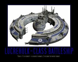 Star Wars The Clone Wars Lucrehulk Battleship by Onikage108