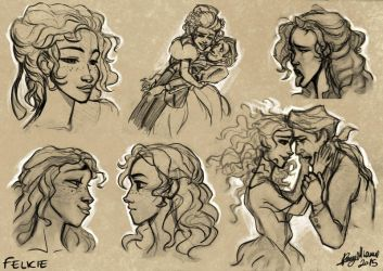 Study of Felicie by Sommum