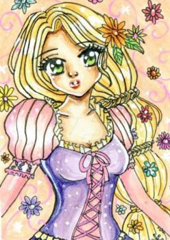 Rapunzel (ACEO) by YumemiArts