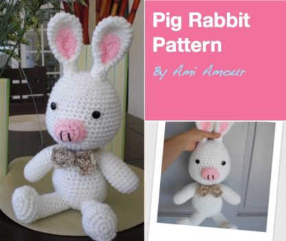 Pig Rabbit Crochet Pattern by Ami-Amour