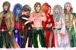 Crossover: X-JAPAN as X-MEN by divadonna224