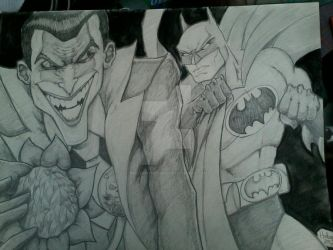 Batman Vs. Joker by MisterHydesSon