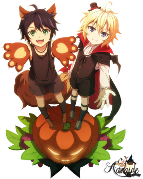Render Yuu and Mika by Advaize