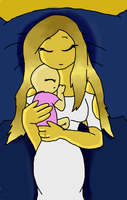 O.Goldie: Mother and child by bluestarproduction