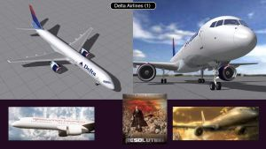 Boeing 757 Delta Airlines 1  by iconkid
