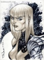 Magik New Mutants grayscale 2 by ToddNauck