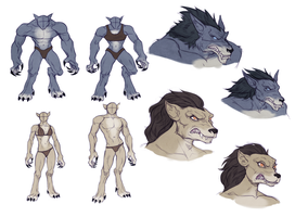 Sexual Dimorphism in WoW Worgen by huldahuoleton