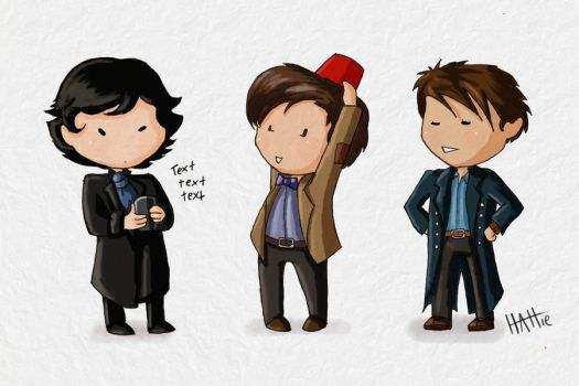 Holmes, Doctor, Harkness by Mad-Hattie