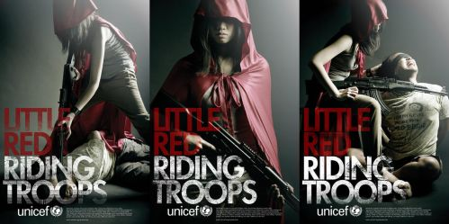 UNICEF -  RED RIDING TROOPS by asianrabbit