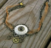 Timeless Glow steampunk choker by Anthyslily