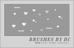 Pixel Heart Brushes by xevergreen