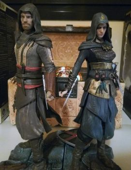 Aguilar + Maria figurines | Assassin's Creed Movie by JuanmaWL