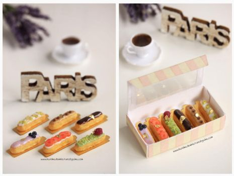 1:12 scale Eclairs by Almadejonge