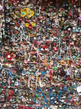 Gum on a wall by williamMalone