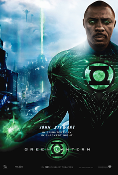 Idris Elba as John Stewart - Green Lantern by Oj4breakfast