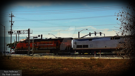 BNSF Leads Amtrak by KitKat37