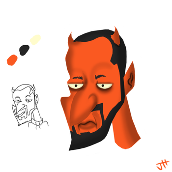 Devil Dad Practice Painting by T3hJake