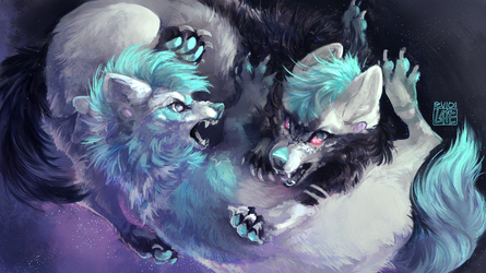 [commission] lunar twins by revioLATE