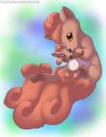 Vulpix With Plush Vulpix