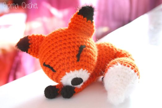 Little Fox crochet amigurumi doll plush by BramaCrochet