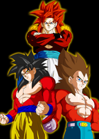 Super Saiyan 4 Fusion Colored by JamalC157