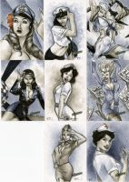 Bombshells Sketch Cards 01 by RichardCox