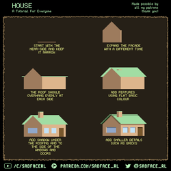 Pixel Art Tutorial - How to Draw a House by SadfaceRL