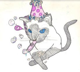Birthday Cat by OniRocu