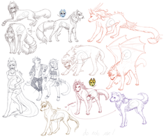 {Special commissions batch 1 !} + Commissions WIPs by noiresetoiles